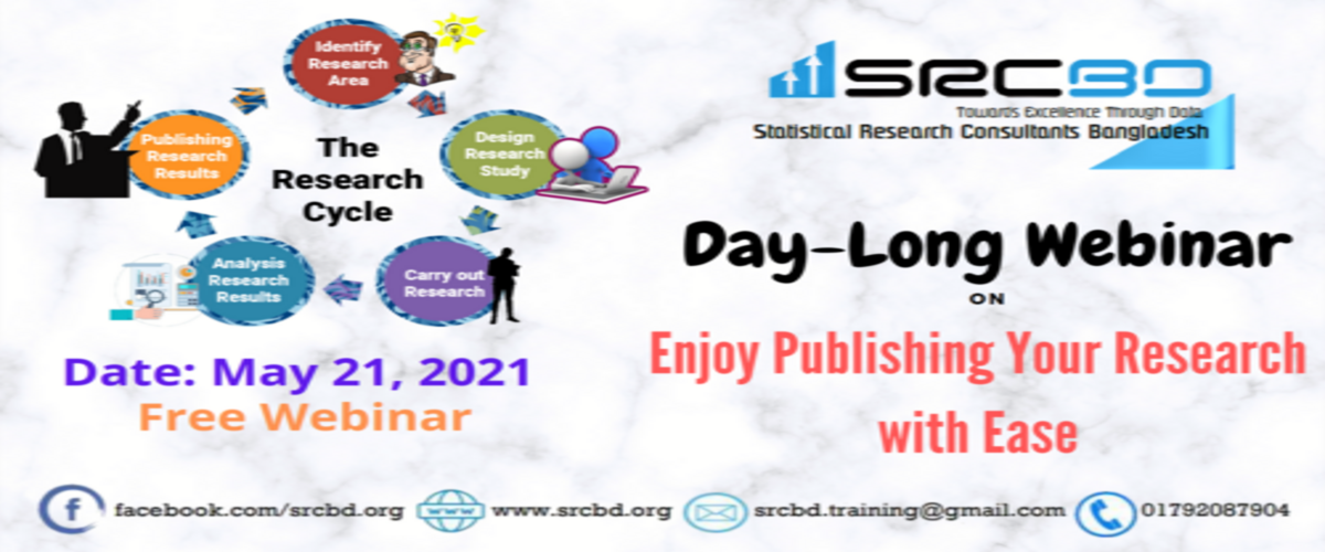 "Free ONLINE LIVE webinar on ""Enjoy Publishing Your Research with Ease"""